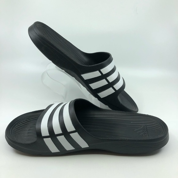 869c4984d8b2 adidas Other - Adidas Training Duramo Slides Black   White Sz 10